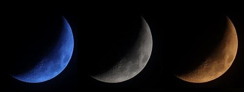 月の色温度を変えて比較