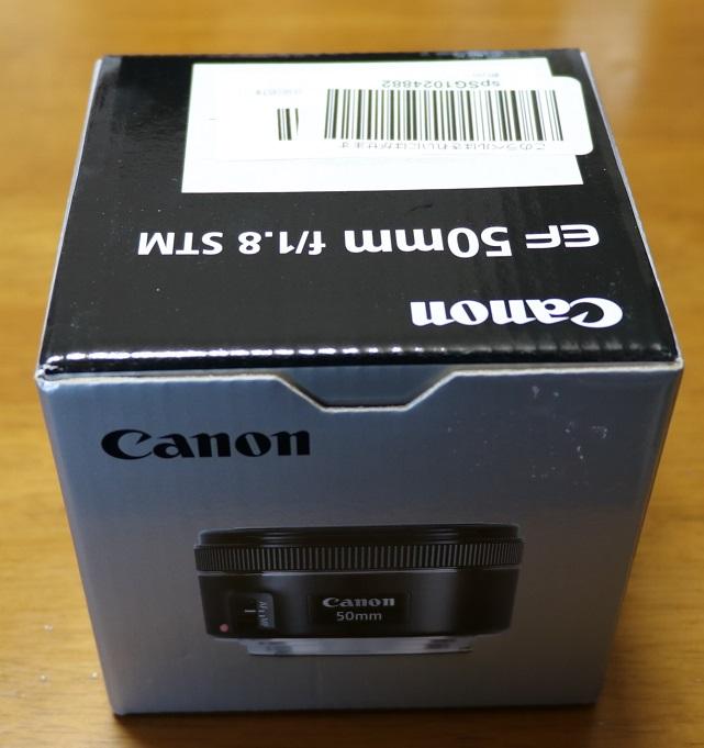 標準レンズ EF 50mm f/1.8 STMの箱
