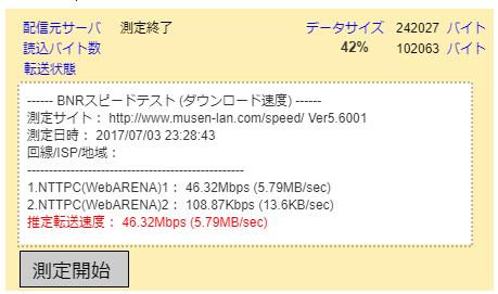 BNR スピードテスト