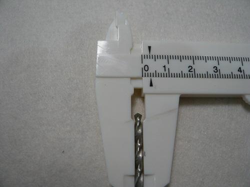 ドリルの直径が3mmなのを確認する