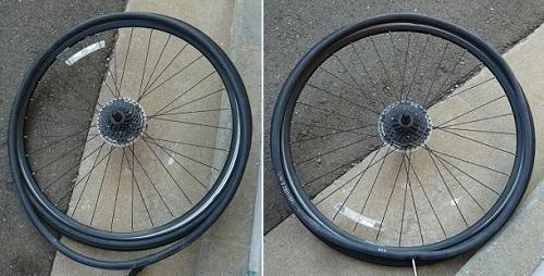 タイヤのサイズと異なるチューブ