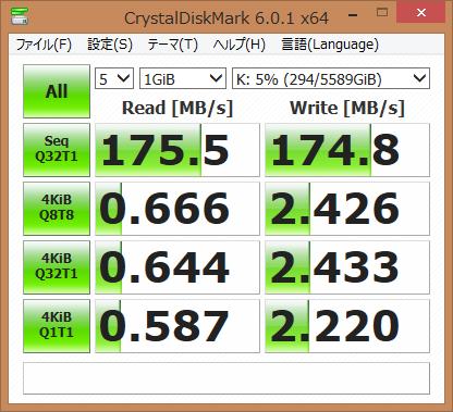 WD RED6TBの速度