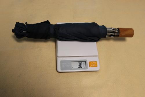 今まで使っていた折り畳み傘の重さは301g