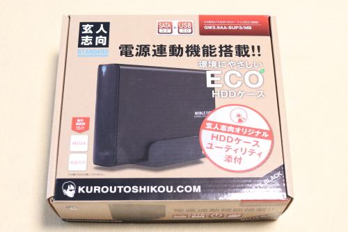 外付けHDD GW3.5AA-SUP3/MB の箱