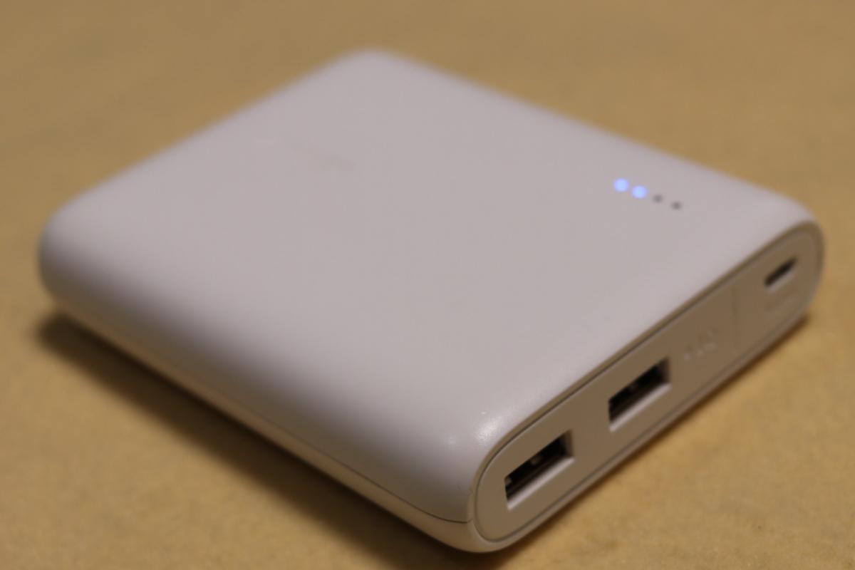 2つ同時に充電できるAnkerのモバイルバッテリー