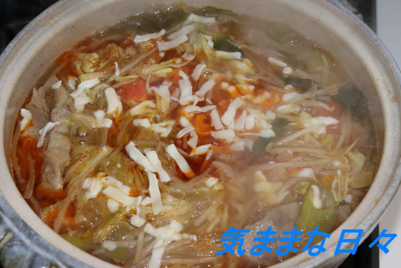 トマトチーズキムチ鍋