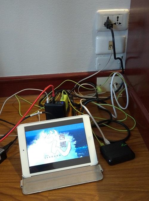 ホテルのLAN経由でtorne mobileの番組再生