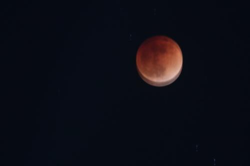 少し手振れした月食