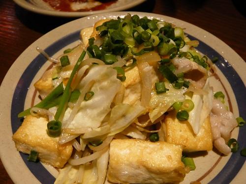 島豆腐と島豚のチャンプルー