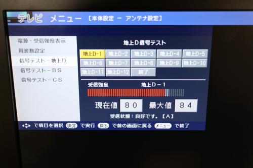 ペーパーアンテナでのNHK受信レベル